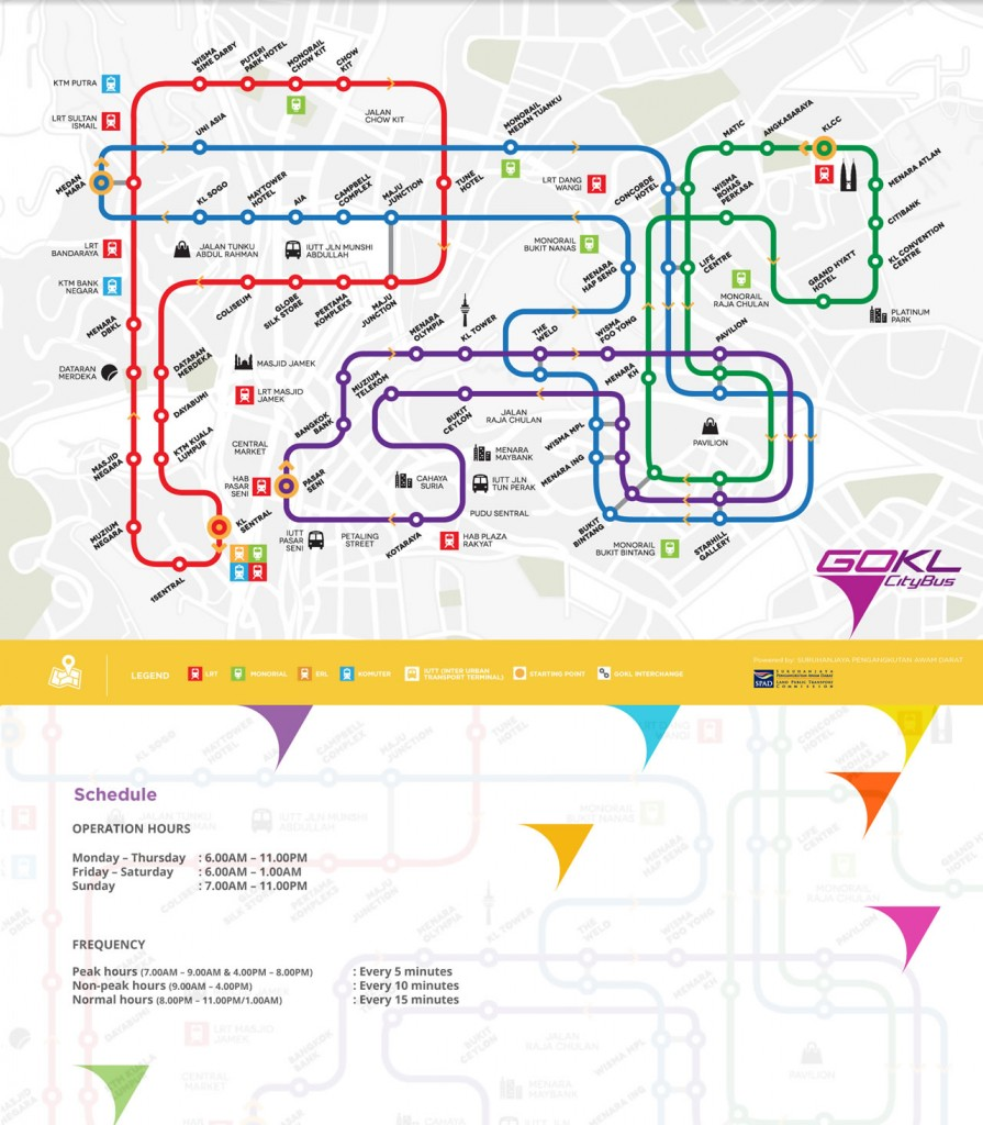 GOKL CityBus Route Map 01 May 2014