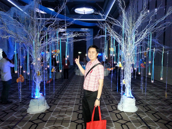 Jeffery Lam in front of Ballroom