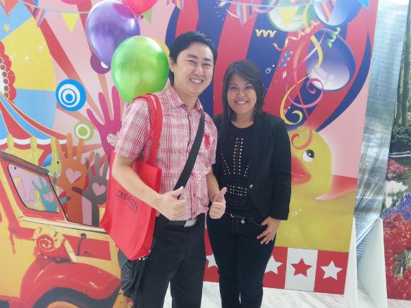 Jeffery Lam with Juwita Suwito