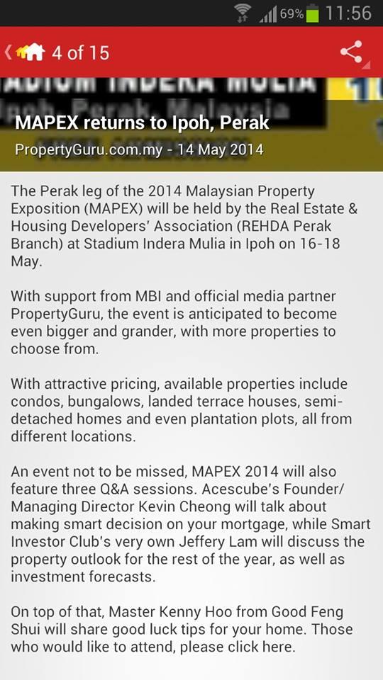 MAPEX 2014 Ipoh PropertyGuru News