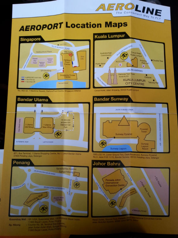 Aeropod Location Maps