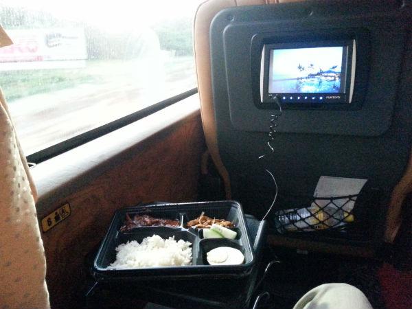 Nasi lemak breakfast inside Aeroline