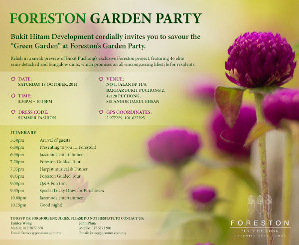 Foreston Garden Party - Invitation
