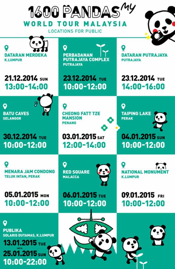 1600 Panda Tour Malaysia