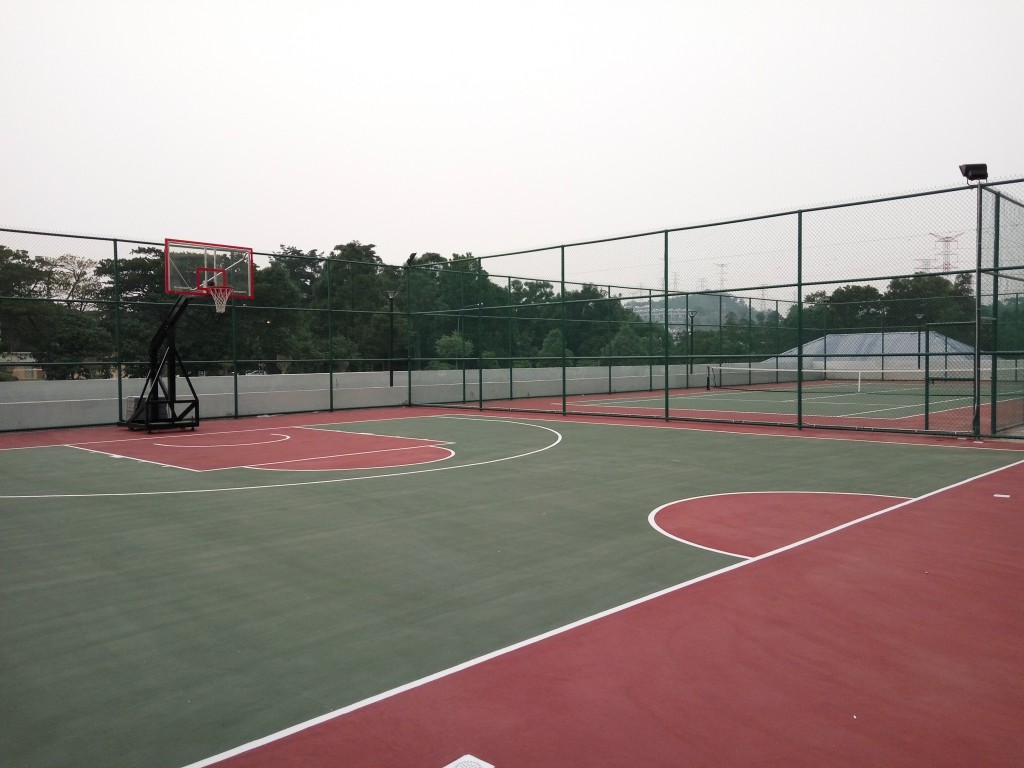 Basketball and Tennis Court