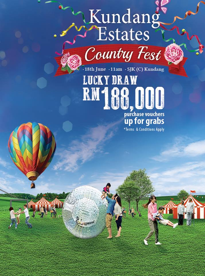 Kundang Estates Country Fest Poster