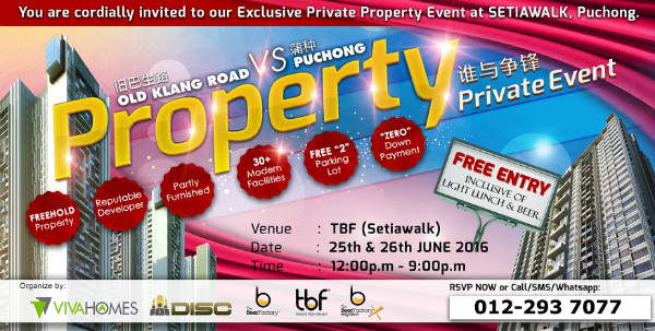 Property Invitation OKR vs Puchong 0122937077