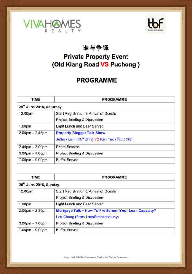 TBF Setiawalk Final Programme